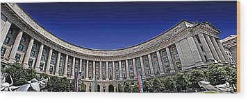 The Ronald Reagan Building And International Trade Center Wood Print by Tom Gari Gallery-Three-Photography