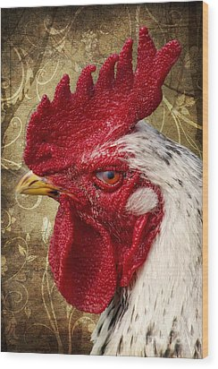 The Rooster Wood Print by Angela Doelling AD DESIGN Photo and PhotoArt