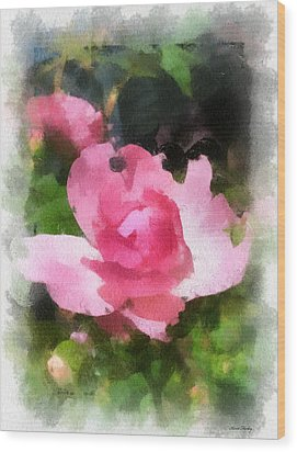 Wood Print featuring the photograph The Rose by Kerri Farley