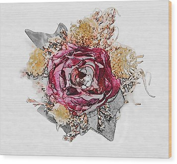 The Rose Wood Print by Susan Leggett