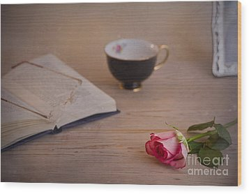 Wood Print featuring the photograph The Rose by Trevor Chriss