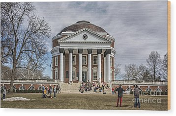 The University Of Virginia Rotunda Wood Print