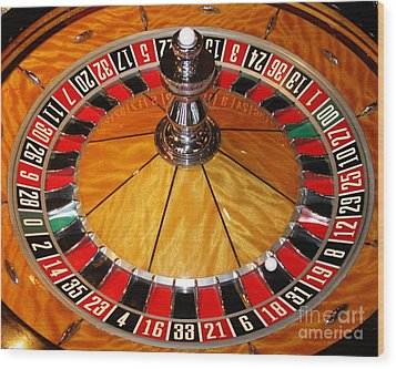 The Roulette Wheel Wood Print by Tom Conway