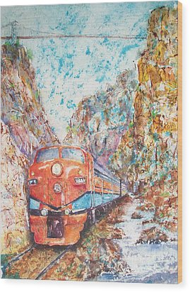 The Royal Gorge Train Wood Print