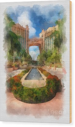 The Royal Towers Atlantis Resort Wood Print by Amy Cicconi