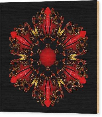 The Ruby Flame Broach Wood Print
