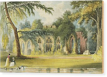 The Ruins   Frogmore Wood Print by John Gendall