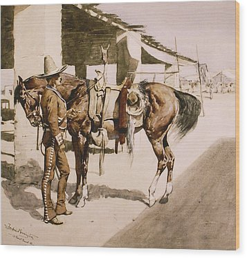 The Rural Guard Mexico Wood Print by Frederic Remington