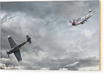 The Rush Wood Print by Peter Chilelli