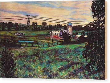 The Rusty Silo Wood Print by Kendall Kessler