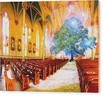 The Sacred World Wood Print by Mark E Tisdale