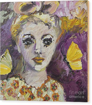 The Sadness In Her Eyes Wood Print by Ginette Callaway