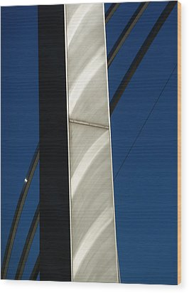 The Sail Sculpture  Wood Print by Steve Taylor