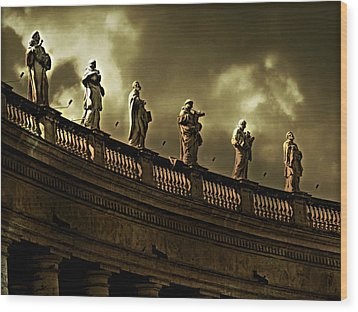 Wood Print featuring the photograph The Saints  by Micki Findlay