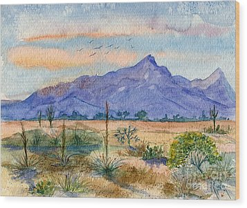 The San Tans Wood Print by Marilyn Smith