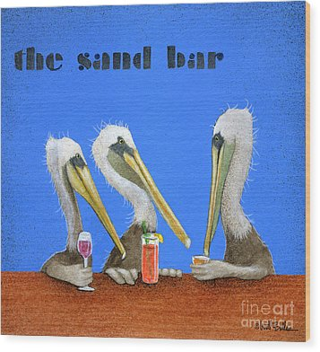 The Sand Bar... Wood Print by Will Bullas