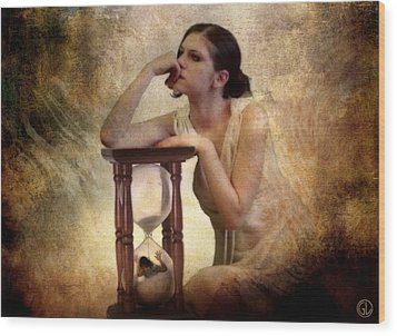 The Sandglass Wood Print