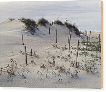 The Sands Of Obx Wood Print by Greg Reed