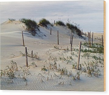 The Sands Of Obx II Wood Print by Greg Reed