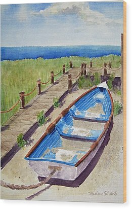 The Sandy Boat Wood Print