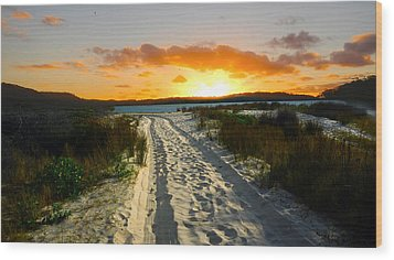 Wood Print featuring the photograph The Sandy Way by Sandro Rossi