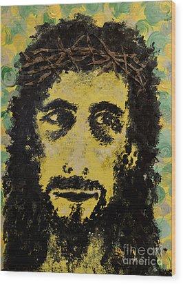 The Savior Wood Print by Alys Caviness-Gober