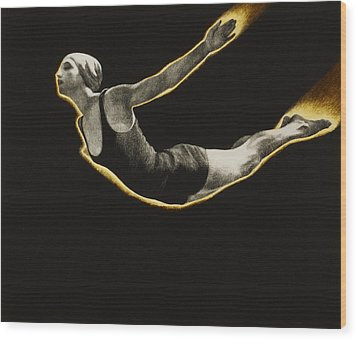 The Sawn Dive Circa 1939 Wood Print by Aged Pixel