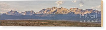 The Sawtooths' Wood Print by Robert Bales