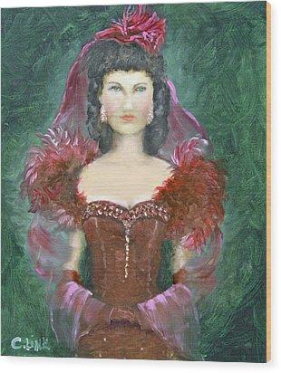 The Scarlet Dress Wood Print