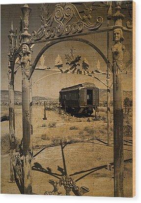 The Scarlet Lady Vintage Wood Print
