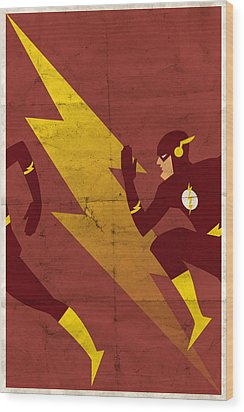 The Scarlet Speedster Wood Print by Michael Myers
