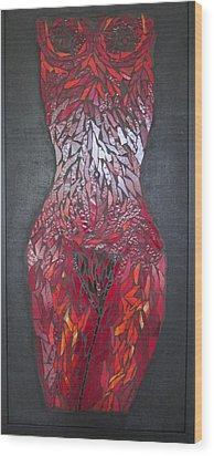The Scarlet Woman Wood Print by Alison Edwards
