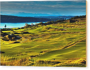 The Scenic Chambers Bay Golf Course - Location Of The 2015 U.s. Open Tournament Wood Print