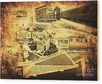 The Scenic City Wood Print by Joe A