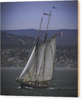 The Schooner Pacific Grace Wood Print