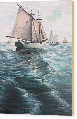 The Schooners Wood Print