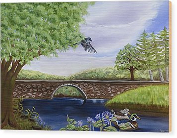 The Schuykill River Wood Print by Susan Culver