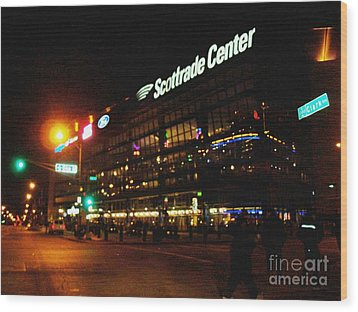 Wood Print featuring the photograph The Scott Trade Center by Kelly Awad