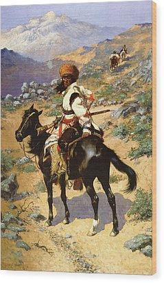 The Scout Friends Or Enemies Wood Print by Frederic Remington