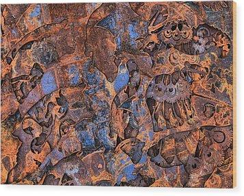 The Scrap Pile Wood Print