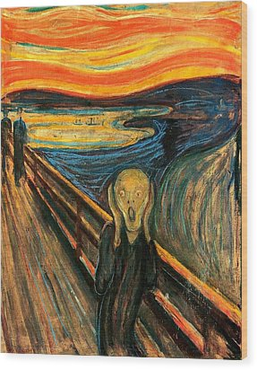The Scream Edvard Munch 1893                    Wood Print by Movie Poster Prints