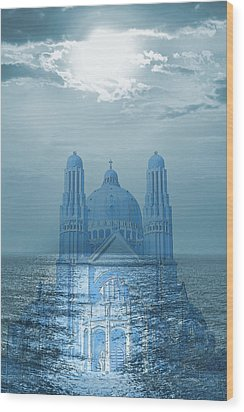 The Sea Church Wood Print