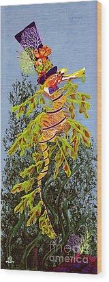 The Sea Hatter Wood Print by KJ Swan