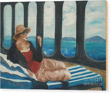 The Sea Princess - Original Sold Wood Print by Therese Alcorn