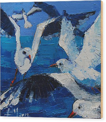 The Seagulls Wood Print