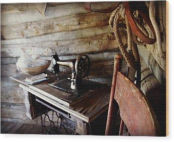 The Seamstress Wood Print by Bill Keiran