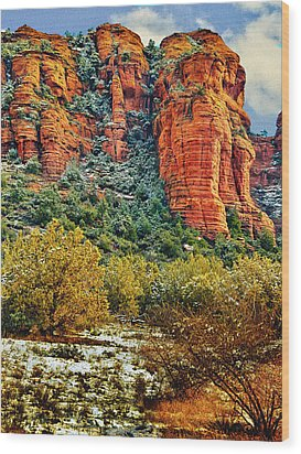 Wood Print featuring the photograph The Secret Mountain Wilderness In Sedona Back Country by Bob and Nadine Johnston