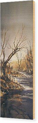 The Secret Stream Wood Print by Roland Byrne