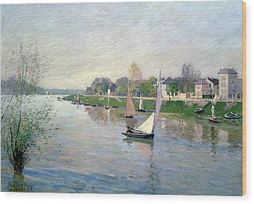 The Seine At Argenteuil Wood Print by Alfred Sisley