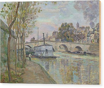 The Seine In Paris  Wood Print by Jean Baptiste Armand Guillaumin